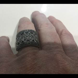 Jewelry - Marcasite Wide Band Ring